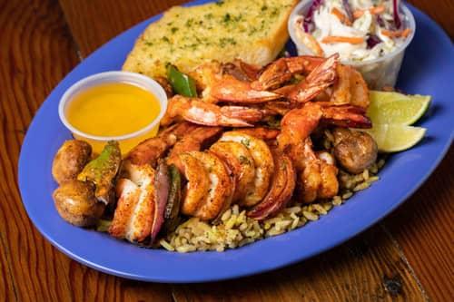 Capt. Benny's Broiled Shrimp Kabob Dinner