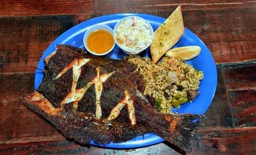 Capt. Benny's Whole Gulf Flounder Dinner